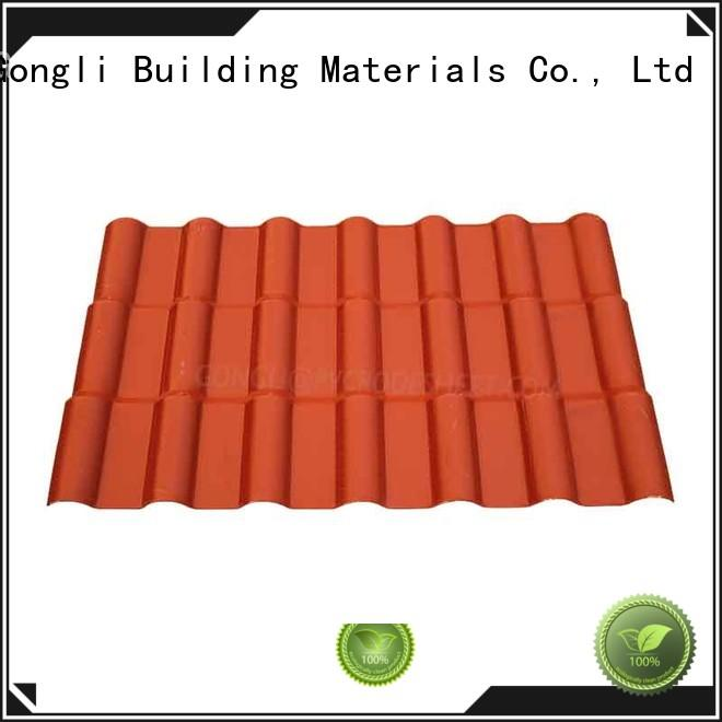 Gongli synthetic asa roofing Supply for factory