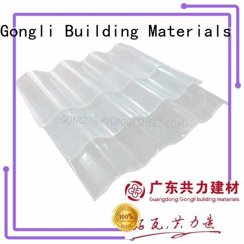 Gongli upvc translucent roofing for sale for farms