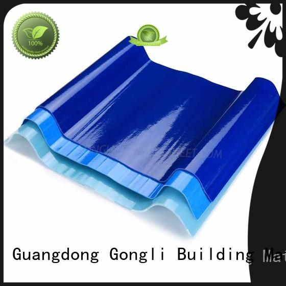 at discount pvc corrugated panels for car shed Gongli