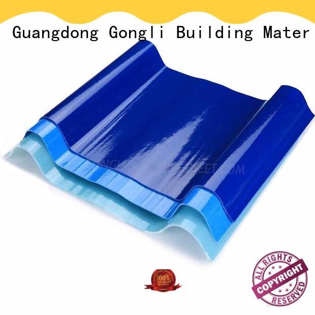 Gongli at-sale pvc corrugated sheet price sheet for car shed