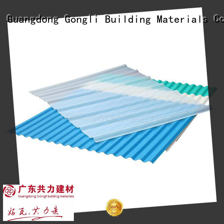on-sale pvc corrugated sheet price for chemical factory day lighting Gongli