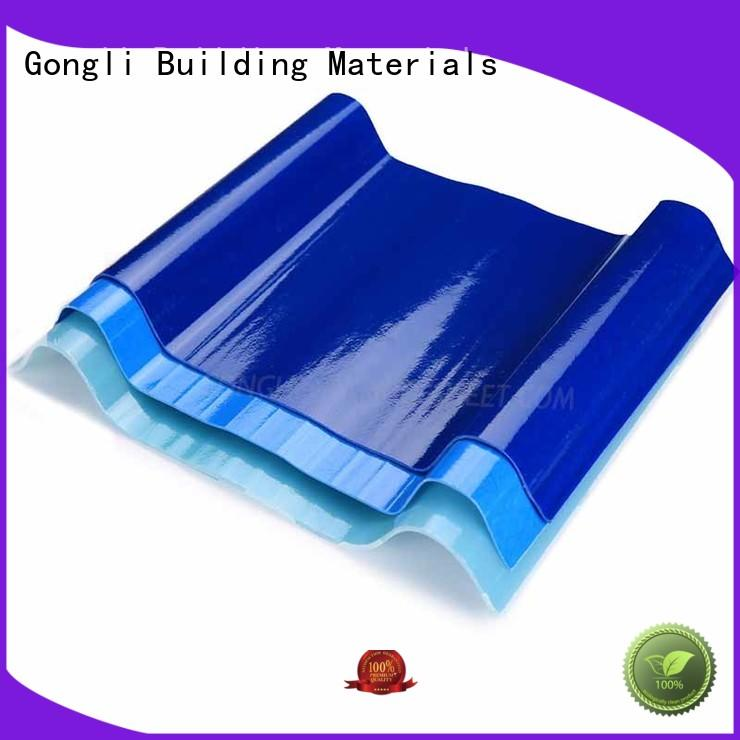 Gongli Wholesale transparent plastic roofing sheet supply for car shed