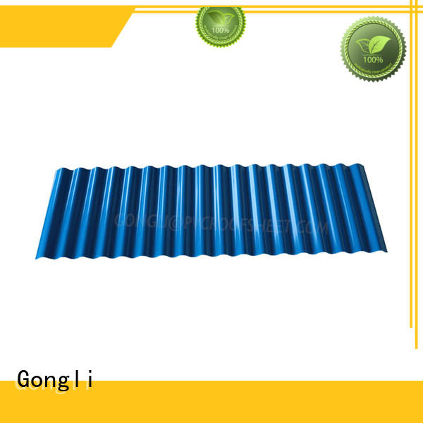 Gongli sheet pvc roof tiles supply for warehouse