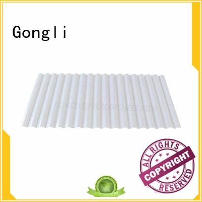 translucent corrugated pvc for chemical factory day lighting Gongli