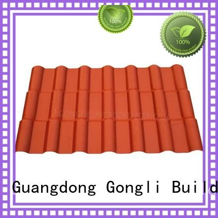Gongli New asa roofing sheets manufacturers for factory