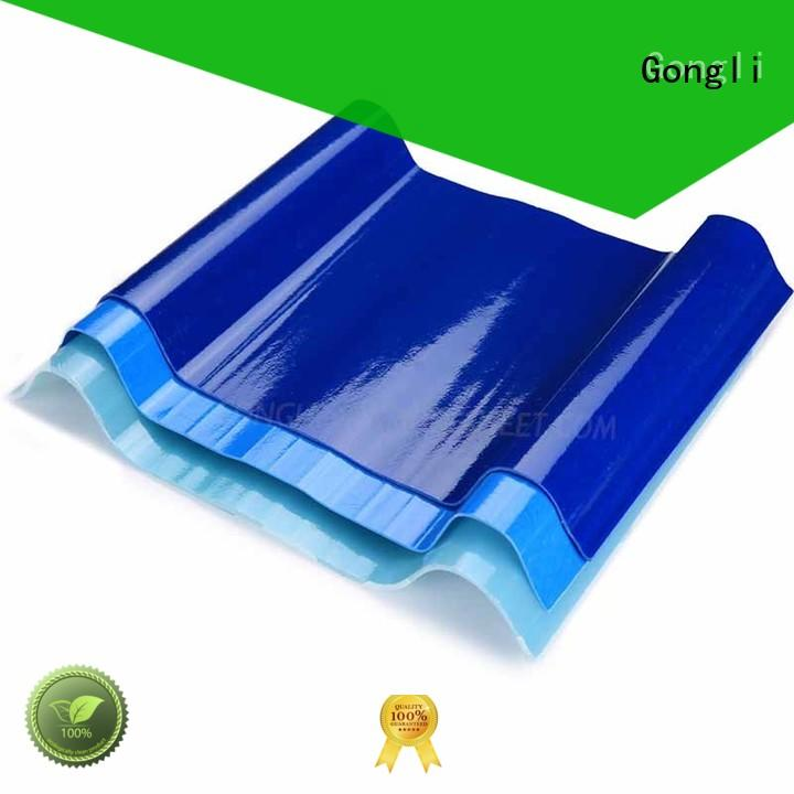 Gongli Latest transparent fiberglass sheet manufacturers for car shed