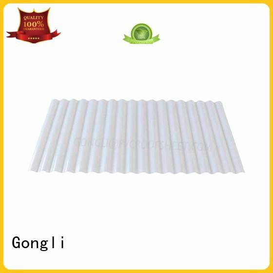 Gongli board transparent fiberglass sheet for sale for car shed
