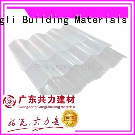 Gongli board transparent plastic roofing sheet Suppliers for chemical factory day lighting