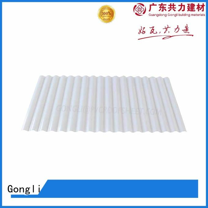 Gongli Custom translucent corrugated panels Supply for car shed