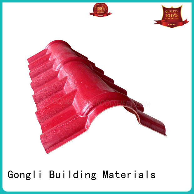Gongli accessories roof ridge cap factory for leisure resorts