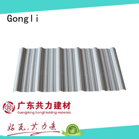 Gongli light weight pvc roof tiles wave for chemical factory