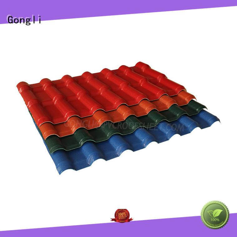 high reputation plastic sheet for roof price at-sale for leisure resorts Gongli