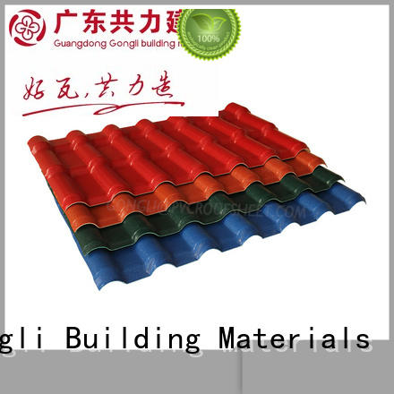 Gongli tile asa roofing sheets Supply for leisure resorts