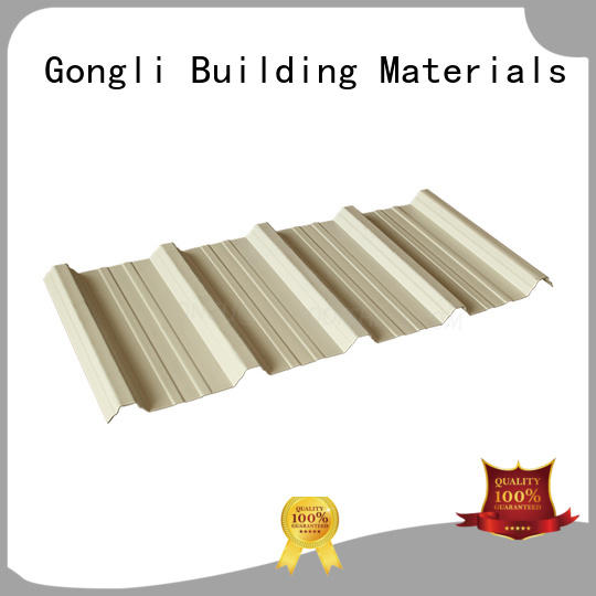 Gongli New upvc roof supply for chemical factory