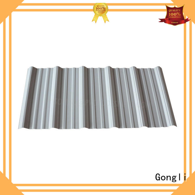 Gongli trapezoid upvc roof factory for poultry farm