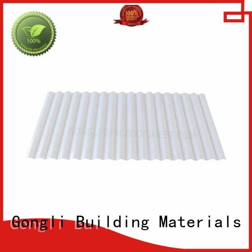Gongli high-end transparent plastic roofing sheet shape for green house