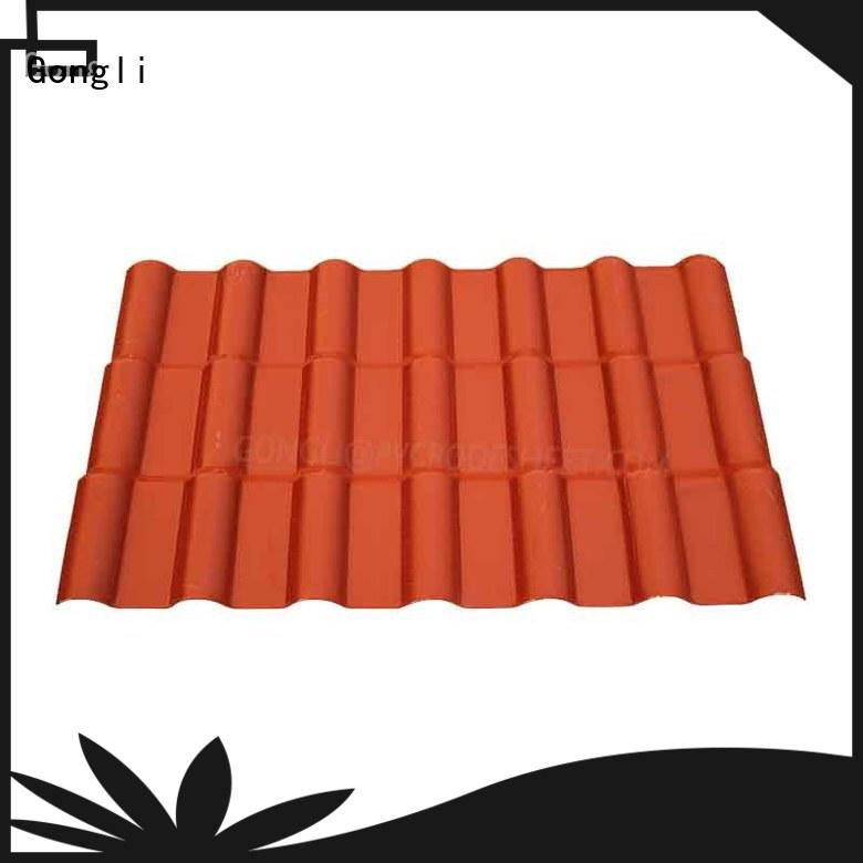 corrugated roof sheets synthetic for leisure resorts Gongli