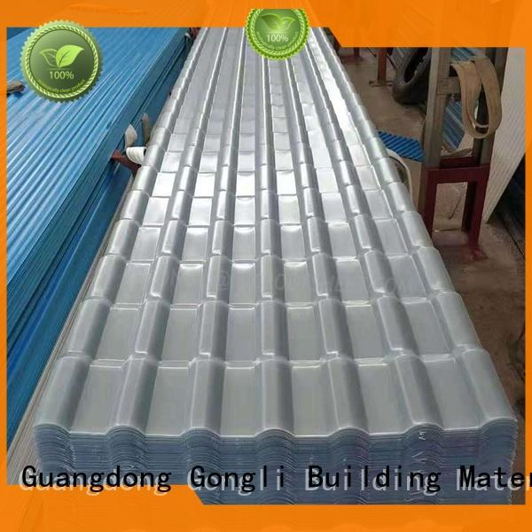 translucent translucent corrugated roof panels shape for chemical factory day lighting Gongli
