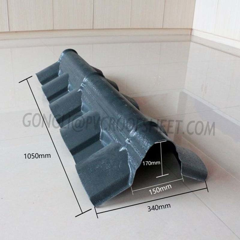 Gongli-Find Asa Chinese Style Tile Accessories | Corrugated Ridge Cap-8