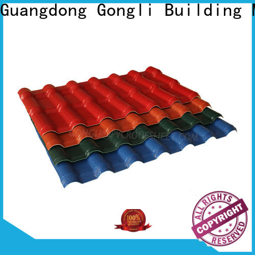 Gongli style asa roofing sheets manufacturers for factory
