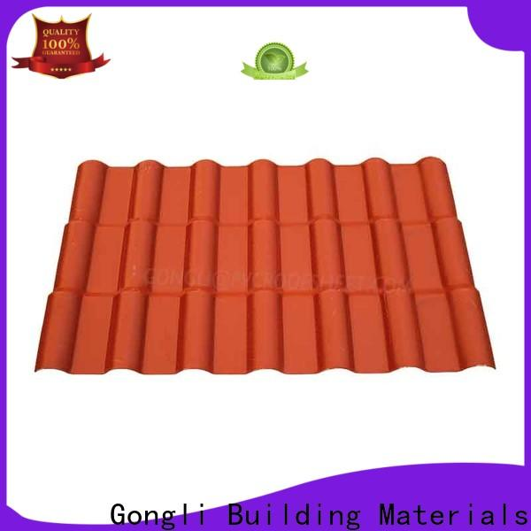 Gongli style lightweight roof tiles manufacturers for leisure resorts