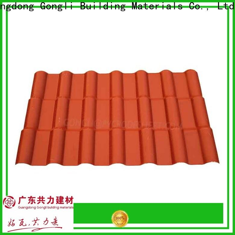 Gongli Custom asa roofing sheets for sale for villa