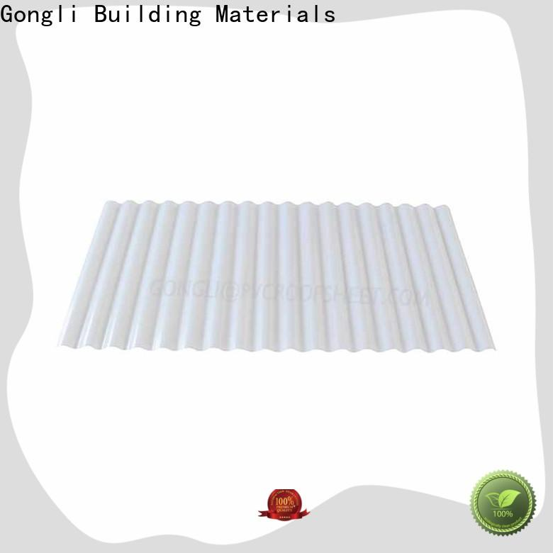 Gongli Wholesale transparent plastic roofing sheet suppliers for green house