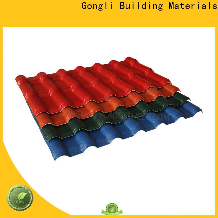 Gongli Custom asa sheet factory for leisure resorts