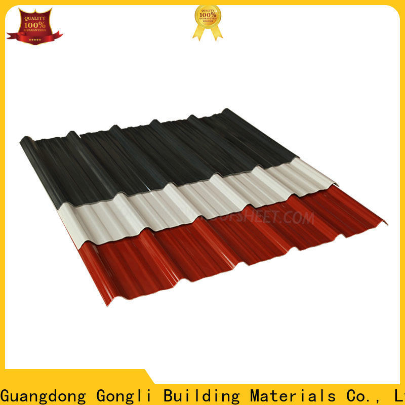 Gongli Best composite corrugated roofing factory for car shed
